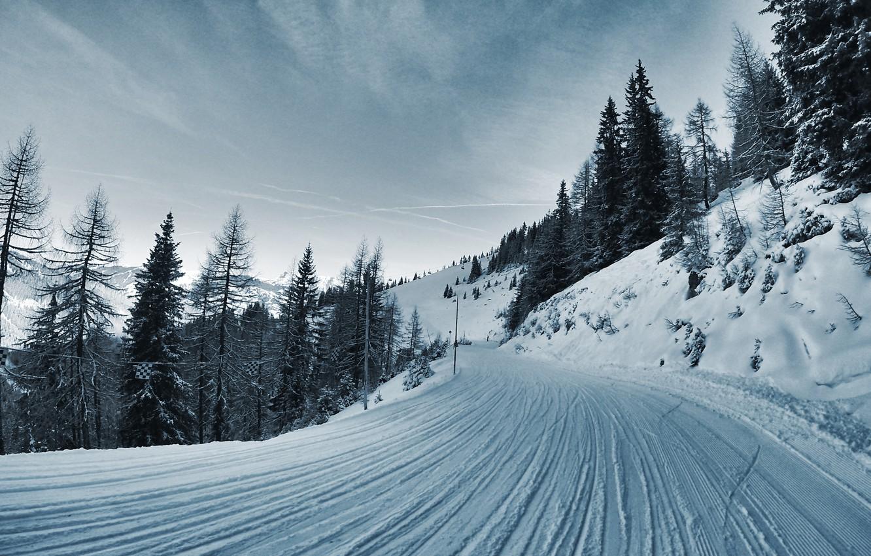 картинки с зимними дорогами