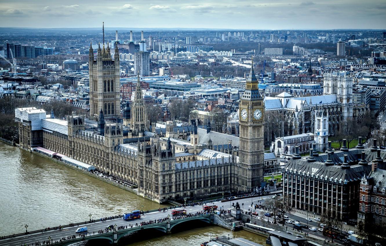 Обои парламент, темза, башня. Города foto 12