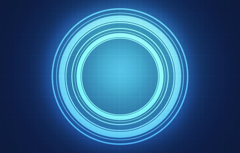Фото обои энергия, свет, круги, фон, клетка