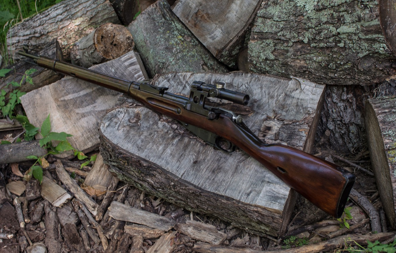 Фото обои винтовка, снайперская, Мосина, магазинная