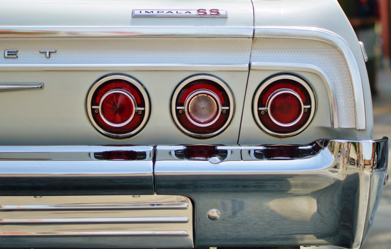 Фото обои машина, фонари, Chevrolet impala