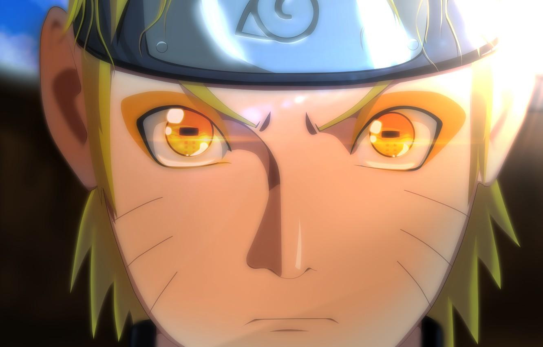 Фото обои взгляд, лицо, отражение, naruto, пейн, uzumaki naruto, sannin mode