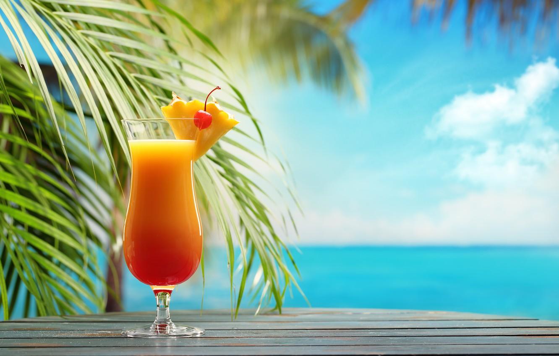 Картинки коктейль тропический