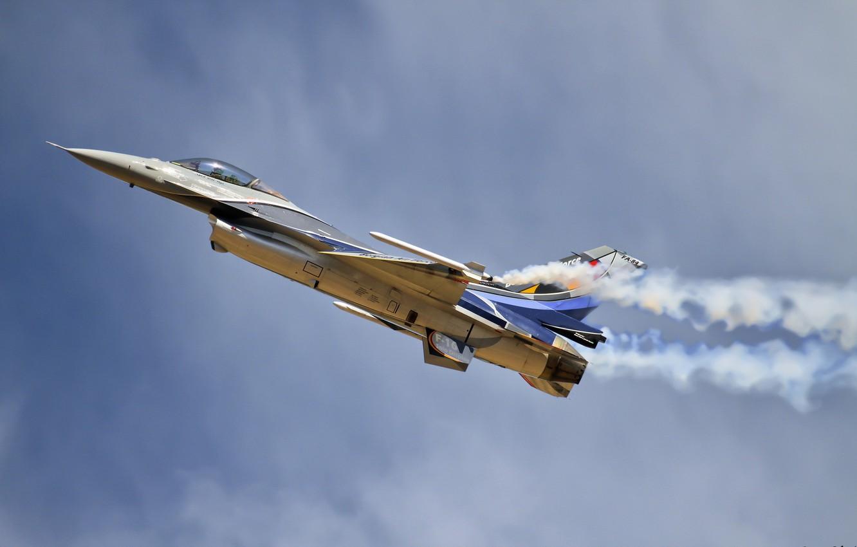 Фото обои оружие, самолёт, F-16
