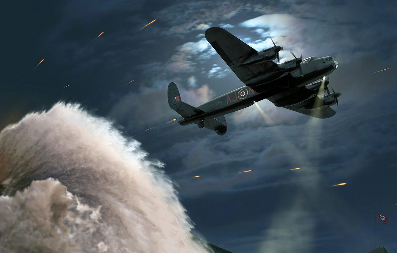 Обои бомбардировщик, четырёхмоторный, avro lancaster. Авиация foto 17