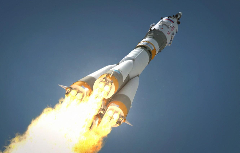 Обои пламя, тма, россия, космодром, Ракета. Разное foto 6