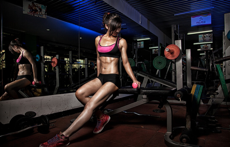 Фото обои девушка, спорт, тренировка