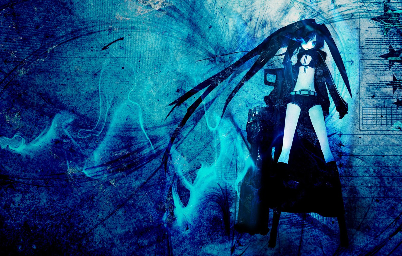 Фото обои девушки, аниме, black rock shooter