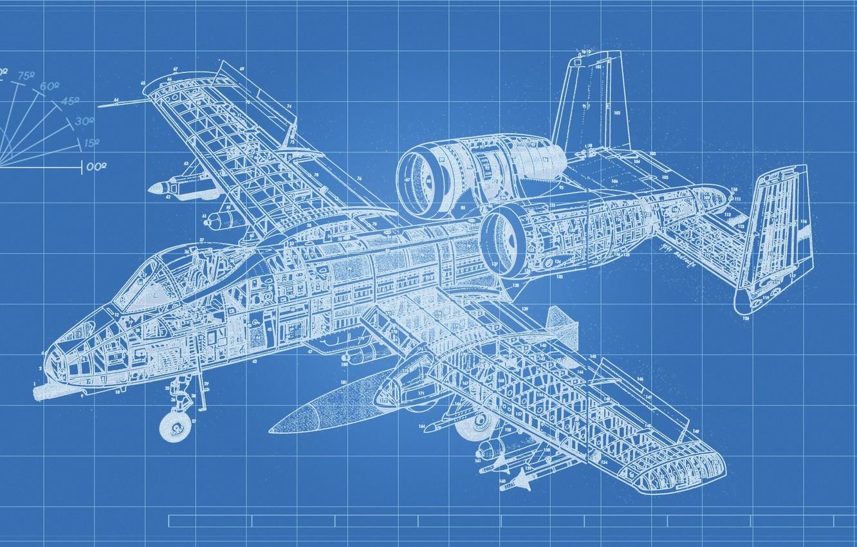 Обои «тандерболт» ii, штурмовик, thunderbolt ii, A-10, Схема. Авиация foto 9