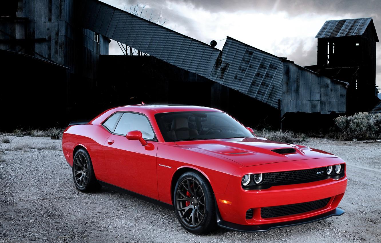Фото обои Dodge, Challenger, with, Hellcat, SRT, Supercharged, engine, HEMI