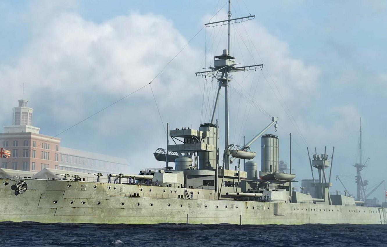 Фото обои корабль, арт, флот, Dreadnought, военный, линкор, британский, battleship, WW1, HMS