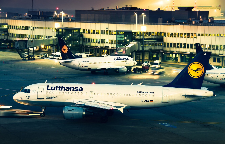 Обои Lufthansa. Авиация foto 13