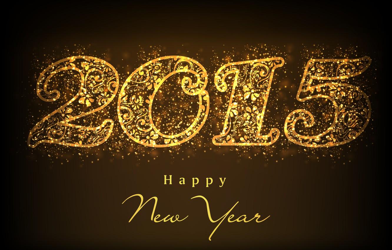 Фото обои золото, golden, New Year, Happy, С Новым Годом, 2015