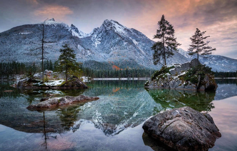 Фото обои alps, Bayern, Hintersee
