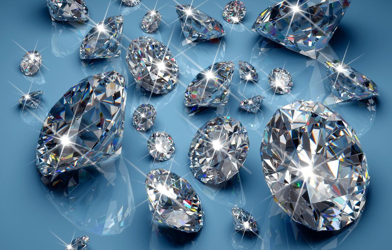 Фото обои бриллианты, glow, brilliant, sparkle, glitter, diamonds, jem