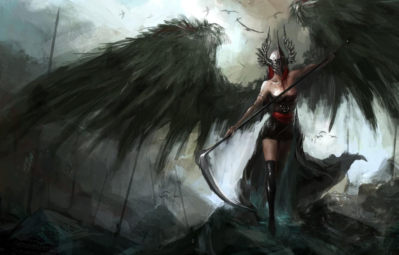 Обои Фантастика, падший ангел, крылья. Фантастика foto 6