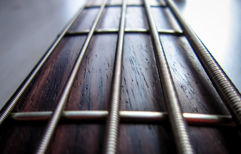 Фото обои макро, гитара, струны