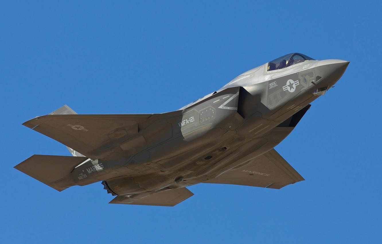 Фото обои оружие, армия, самолёт, F-35B