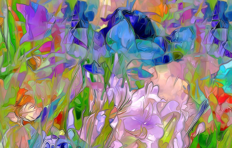 Обои луг, цветы. Абстракции foto 17