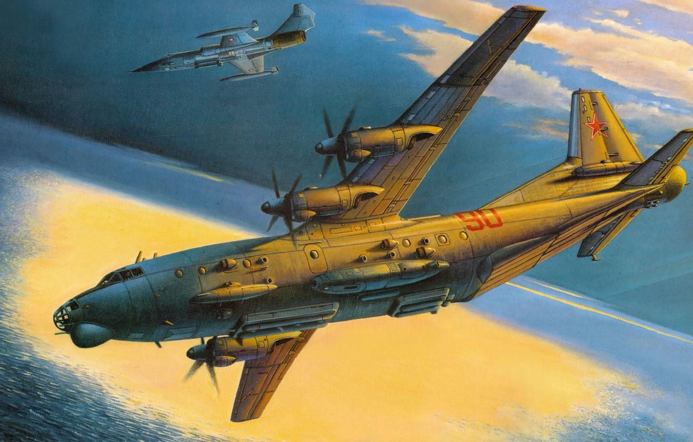Обои Lockheed, истребитель-перехватчик, рисунок, starfighter, F-104. Авиация foto 13