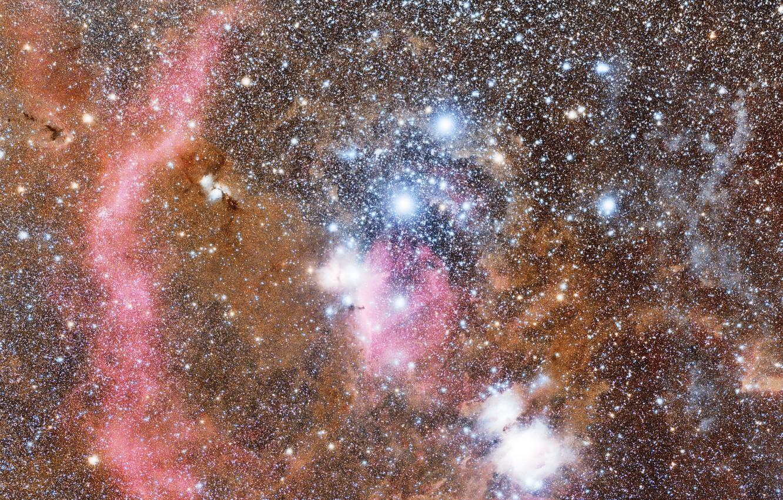 Фото обои космос, пространство, звёзды, созвездие, Орион, мироздание