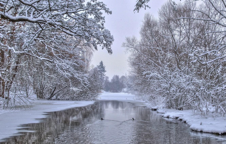 фото зимняя природа на речушке изменил его настройках