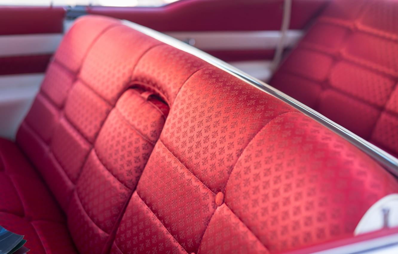 Фото обои машина, красный, автомобиль, салон, 1958, Cadillac Fleetwood 60 Special