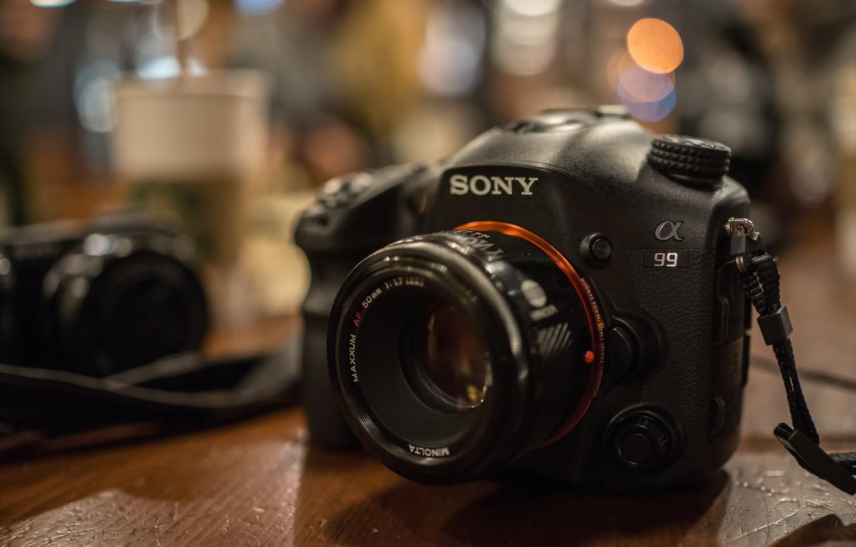 Фото обои фон, камера, Sony