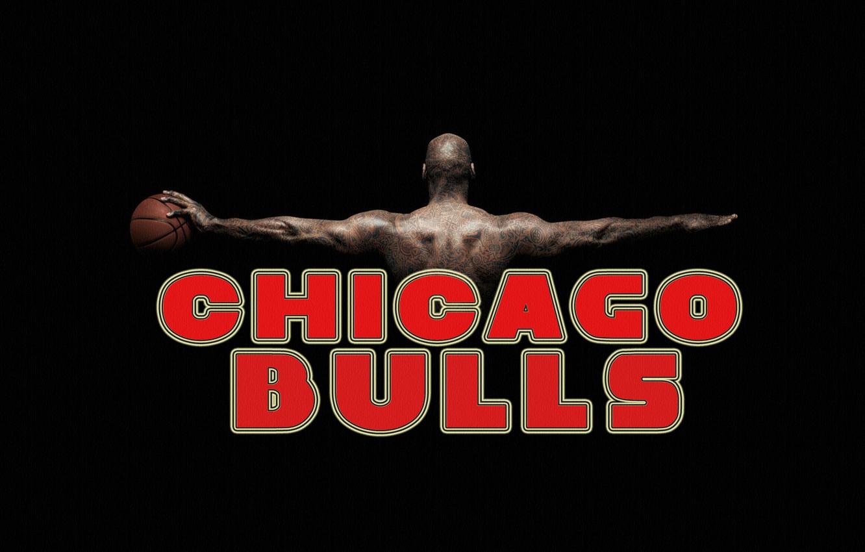 Фото обои Красный, Черный, Мяч, Баскетбол, Фон, NBA, Чикаго Буллз, Chicago Bulls, Название