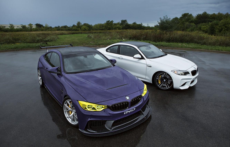Фото обои BMW, Тюнинг, Дождь, Автомобили, IND, 2015-16, M4