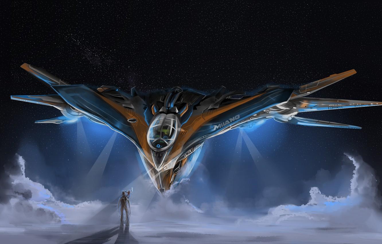 Фото обои Milano, Guardians of the Galaxy, groot, Starship
