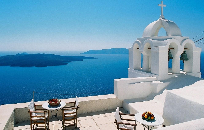 Обои греция, вид на море. Природа foto 8