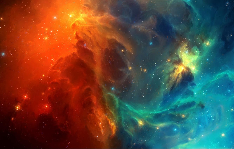 Фото обои космос, звезды, туманность, арт, TylerCreatesWorlds