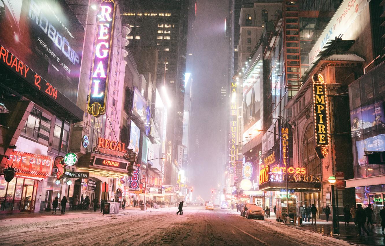 Обои Nyc, manhattan, new york, winter. Города foto 7