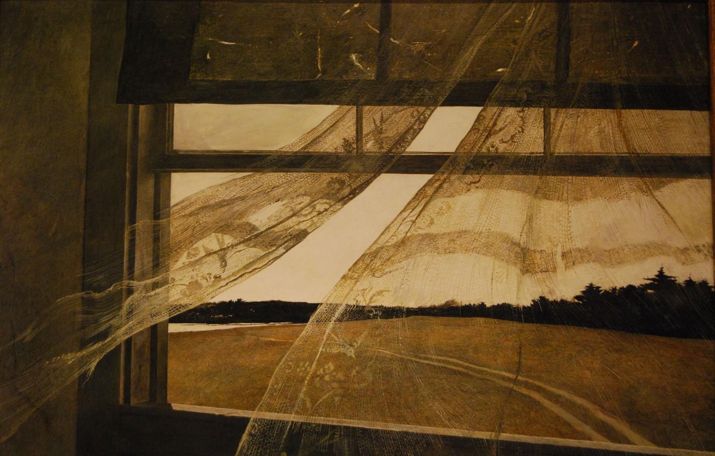 Фото обои Эндрю Уайет, 1947, Ветер с моря
