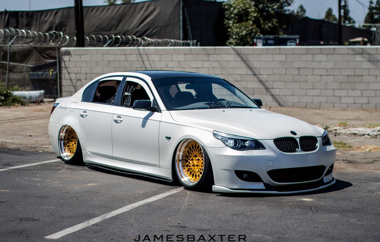 white wheels gold jdm tuning germany low e60. Black Bedroom Furniture Sets. Home Design Ideas