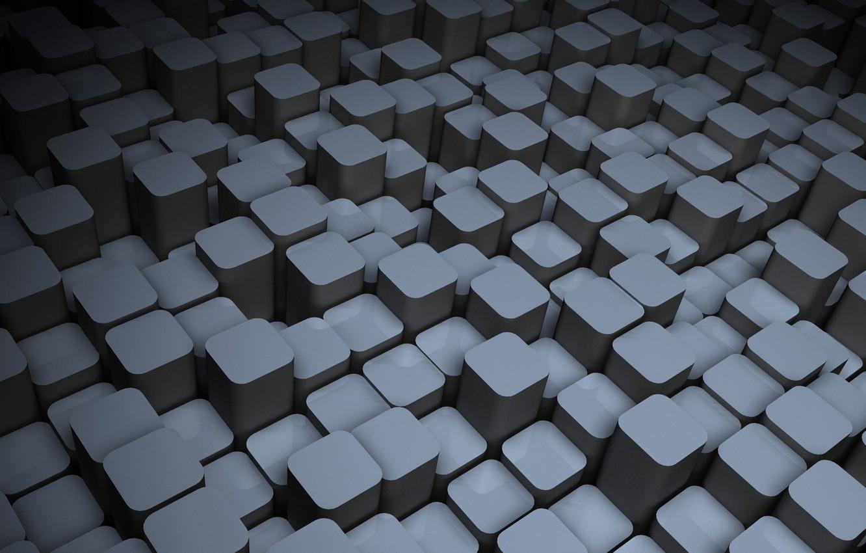 Фото обои кубики, широкоформатные, hi-tech, полноэкранные