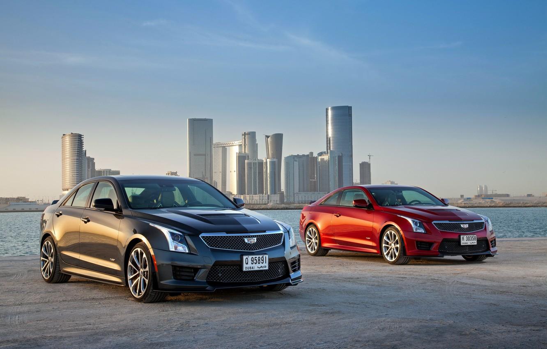 Фото обои Cadillac, кадиллак, ATS, 2015