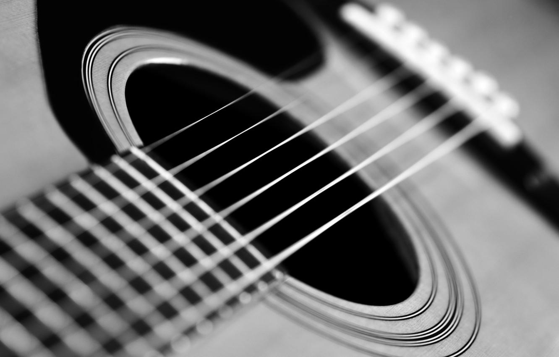 Обои Гитара, струны, гриф, музыкальный инструмент. Музыка foto 6