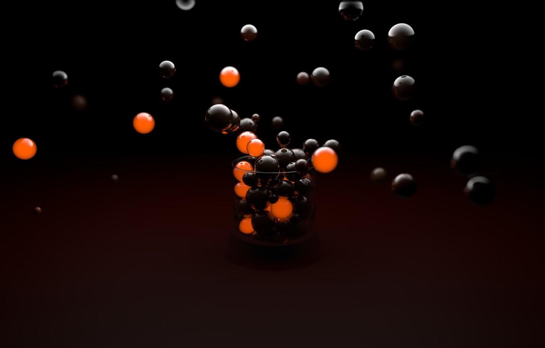 Обои orange, balls. Абстракции foto 6