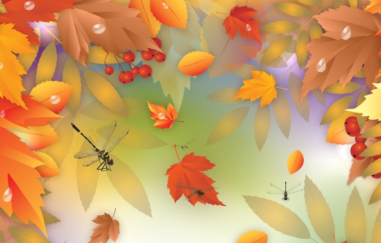 Обои осень, желтый, вектор. Минимализм foto 11