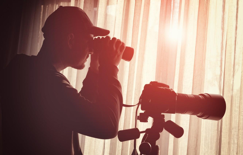 Фото обои detective, equipment, binoculars, surveillance