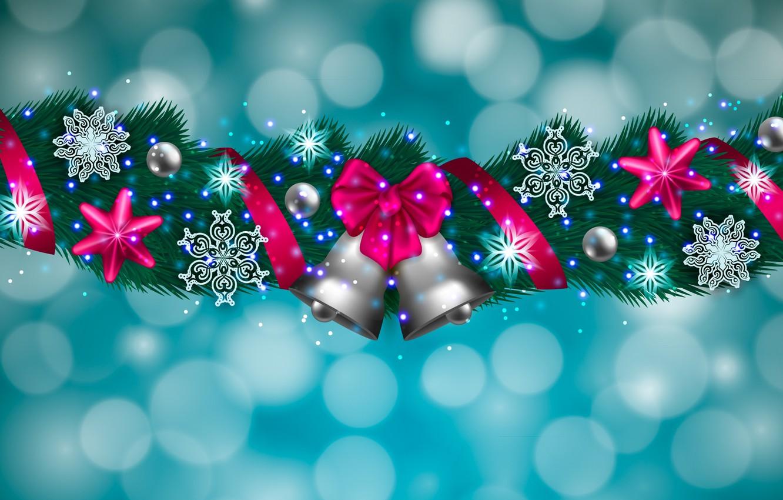 Обои снежинки, колокольчики. Новый год foto 6