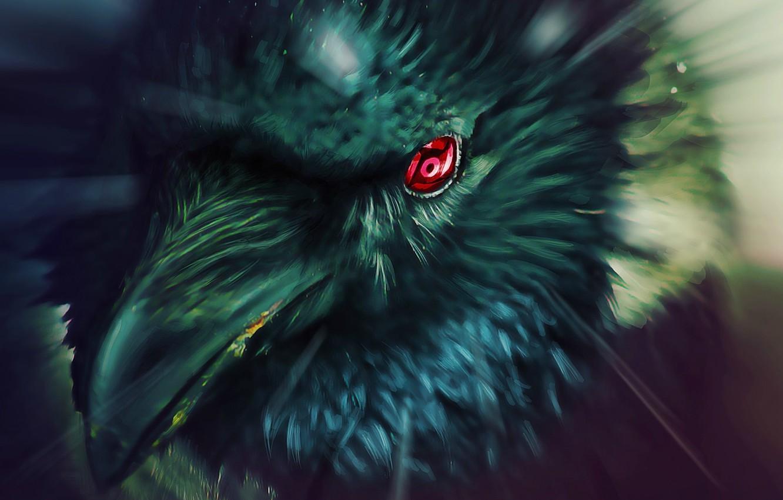 Фото обои глаз, ворон, Наруто, Naruto, art, шаринган, tsxworld