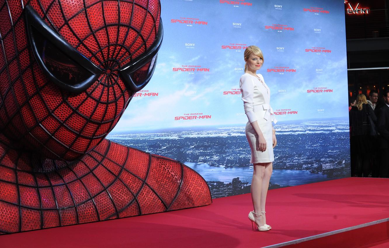 Обои Новый человек-паук, эмма стоун, Emma stone, the amazing spider-man. Фильмы foto 12