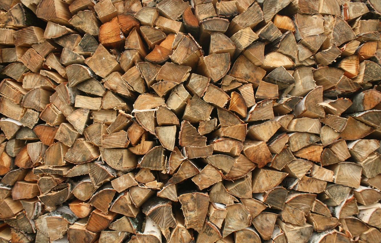 Фото обои дерево, дрова, берёза