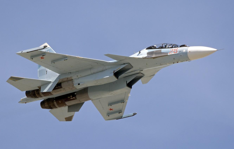 Обои многоцелевой, двухместный, Су-30м2, истребитель. Авиация foto 8