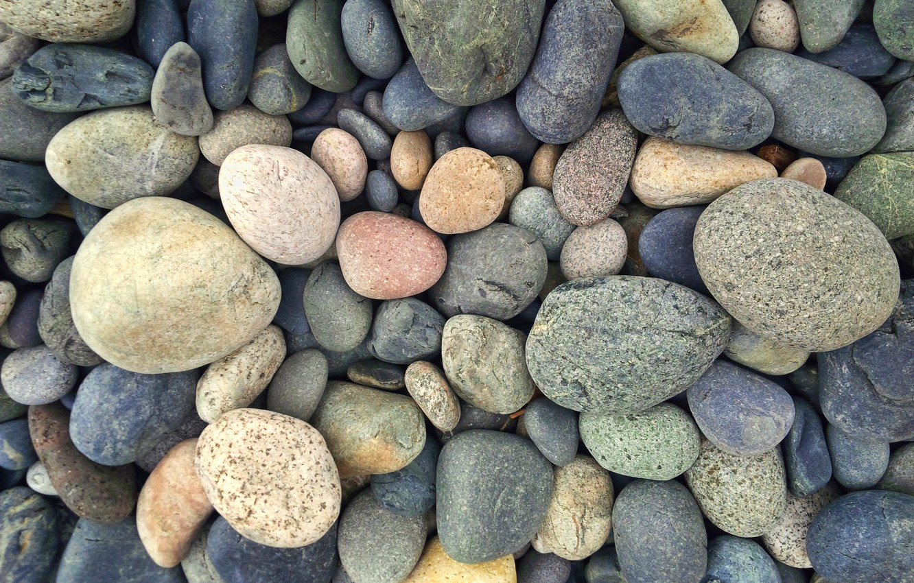 Фото обои green, colorful, grey, yellow, blue, stones, round
