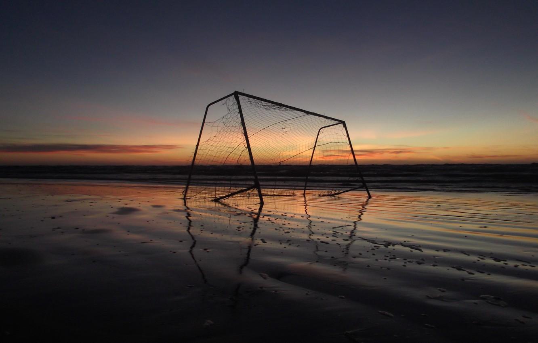 Фото обои Закат, Пляж, Beach, Sunset, Варота