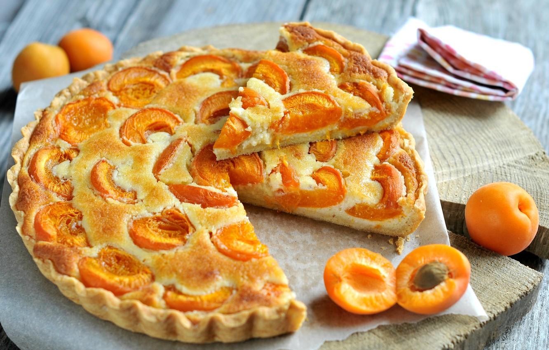 Обои пирог, выпечка, абрикосы. Еда foto 6